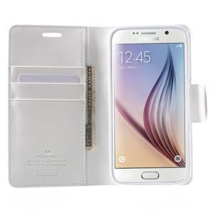 Diary PU kožené pouzdro na mobil Samsung Galaxy S6 - bílé - 5