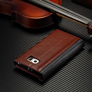 Breck peněženkové pouzdro na Samsung Galaxy S6 - hnědé/černé - 5