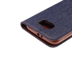 Cloth peněženkové pouzdro pro Samsung Galaxy S6 - černé - 5