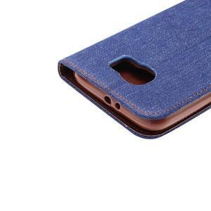 Cloth peněženkové pouzdro pro Samsung Galaxy S6 - tmavěmodré - 5