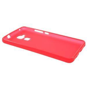 Matný gelový obal na mobil Honor 7 Lite - červený - 5