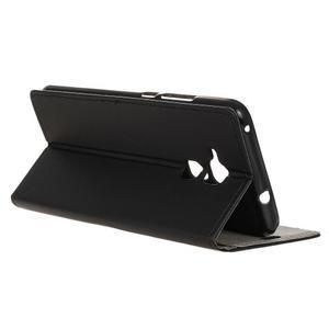 Peněženkové PU kožené pouzdro na mobil Honor 7 Lite - černé - 5