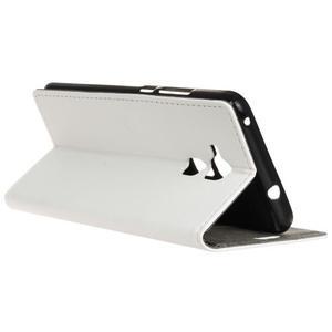 Peněženkové PU kožené pouzdro na mobil Honor 7 Lite - bílé - 5
