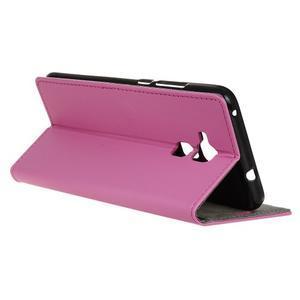 Peněženkové PU kožené pouzdro na mobil Honor 7 Lite - rose - 5