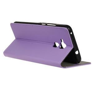 Peněženkové PU kožené pouzdro na mobil Honor 7 Lite - fialové - 5