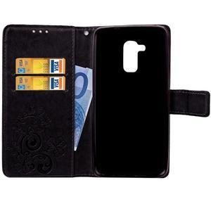 Buttefly PU kožené pouzdro na mobil Honor 7 Lite  - černé - 5