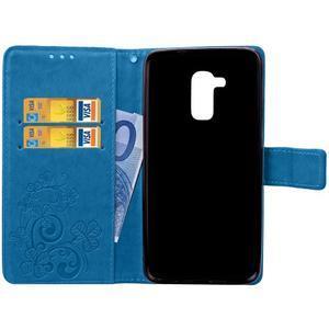 Buttefly PU kožené pouzdro na mobil Honor 7 Lite  - modré - 5