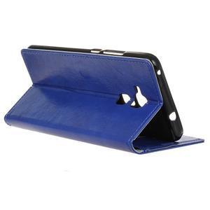 Horse PU kožené pouzdro na mobil Honor 7 Lite - modré - 5