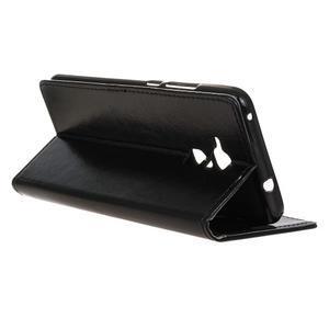Horse PU kožené pouzdro na mobil Honor 7 Lite - černé - 5