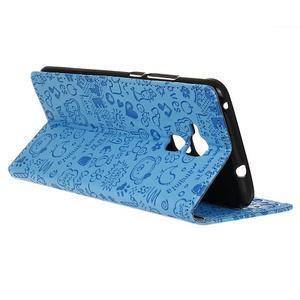 Cartoo pouzdro na mobil Honor 7 Lite - modré - 5
