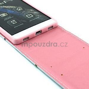 Flipové pouzdro pro Huawei Ascend P8 - zamilované sovičky - 5