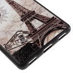 Gelový kryt s koženými zády na Huawei Ascend P8 - Eiffelova věž - 5/5