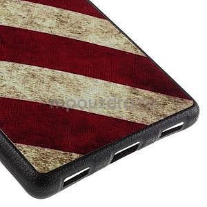 Gelový kryt s koženkovými zády na Huawei Ascend P8 - US vlajka - 5