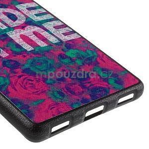 Gelový kryt s koženými zády na Huawei Ascend P8 - roses - 5