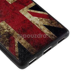Gelový kryt s koženými zády na Huawei Ascend P8 - UK vlajka - 5