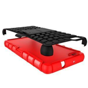 Outdoor odolný kryt 2v1 se stojánkem pro Huawei Ascend P8 Lite - červený - 5