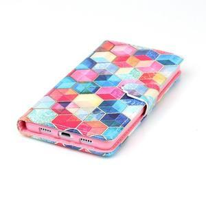 Pouzdro na mobil Huawei P8 Lite - barevné hexagony - 5