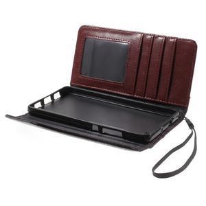 Luxusní peněženkové pouzdro na Huawei P8 Lite -  hnědé / černé - 5
