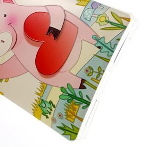 Softy gelový obal na mobil Huawei Mate 8 - zamilované prasátko - 5