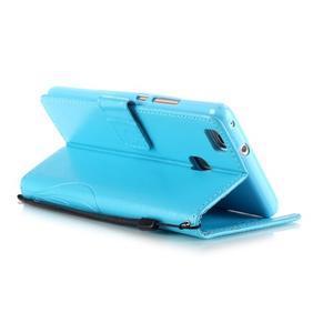 Magicfly knížkové pouzdro na telefon Huawei P9 Lite - světlemodré - 5