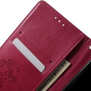 Cloverleaf peněženkové pouzdro s kamínky na Huawei P9 Lite - rose - 5