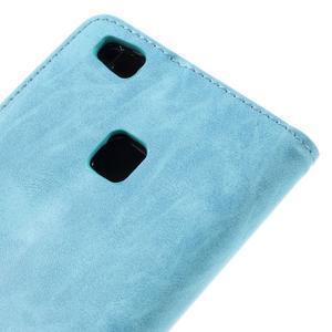 Klopové pouzdro na mobil Huawei P9 Lite - světlemodré - 5