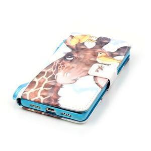Knížkové PU kožené pouzdro na Huawei P9 Lite - žirafa - 5