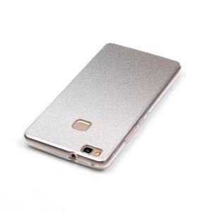 Gradient třpytivý gelový obal na Huawei P9 Lite - šedý - 5