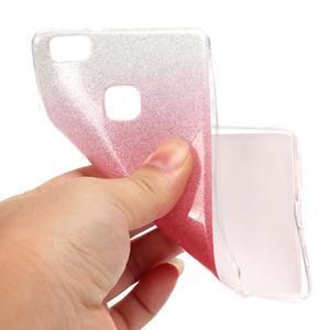 Gradient třpytivý gelový obal na Huawei P9 Lite - rose - 5