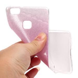 Gradient třpytivý gelový obal na Huawei P9 Lite - růžový - 5