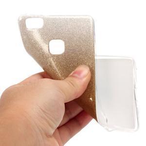 Gradient třpytivý gelový obal na Huawei P9 Lite - zlatý - 5