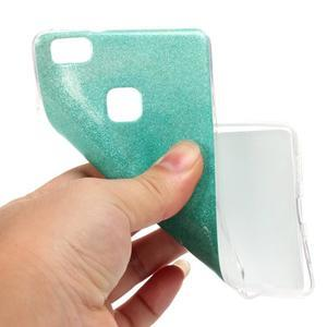 Gradient třpytivý gelový obal na Huawei P9 Lite - azurový - 5