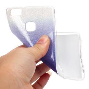 Gradient třpytivý gelový obal na Huawei P9 Lite - fialový - 5