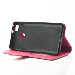 Loves PU kožené pouzdro s kamínky na Huawei P9 Lite - rose - 5