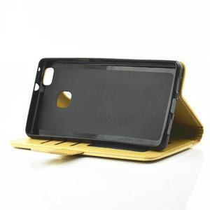 Loves PU kožené pouzdro s kamínky na Huawei P9 Lite - žluté - 5