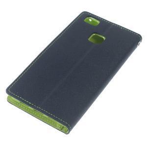 Diary PU kožené pouzdro na telefon Huawei P9 Lite - tmavěmodré - 5
