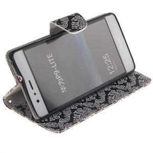 Lethy knížkové pouzdro na telefon Huawei P9 Lite - damask - 5
