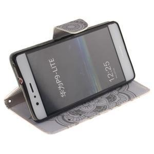 Lethy knížkové pouzdro na telefon Huawei P9 Lite - mandala - 5