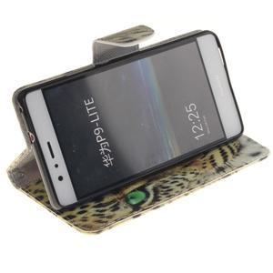 Lethy knížkové pouzdro na telefon Huawei P9 Lite - leopard - 5
