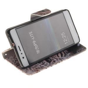 Lethy knížkové pouzdro na telefon Huawei P9 Lite - gepard - 5