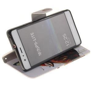 Lethy knížkové pouzdro na telefon Huawei P9 Lite - mýtický vlk - 5