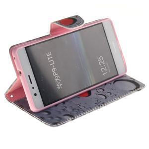 Lethy knížkové pouzdro na telefon Huawei P9 Lite - srdíčka - 5