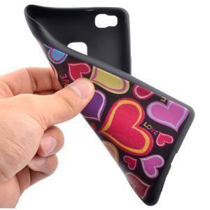 Gelový obal na telefon Huawei P9 Lite - srdíčka - 5