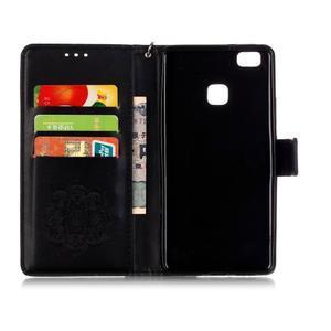Dream PU kožené pouzdro s kamínky na Huawei P9 Lite - černé - 5