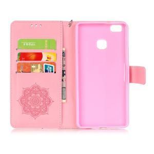 Dream PU kožené pouzdro s kamínky na Huawei P9 Lite - růžové - 5