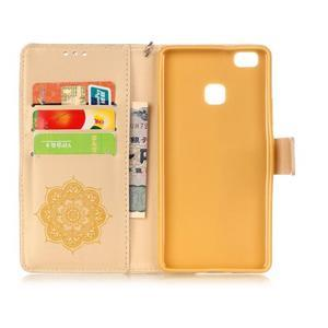 Dream PU kožené pouzdro s kamínky na Huawei P9 Lite - žluté - 5