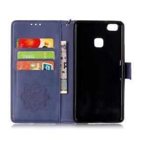 Dream PU kožené pouzdro s kamínky na Huawei P9 Lite - modré - 5