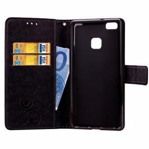 Cloverleaf peněženkové pouzdro na Huawei P9 Lite - černé - 5