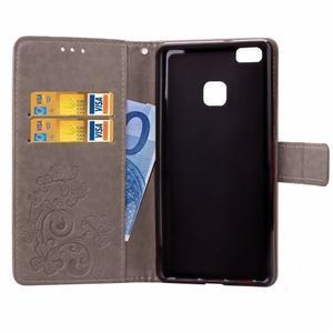 Cloverleaf peněženkové pouzdro na Huawei P9 Lite - šedé - 5