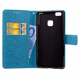 Cloverleaf peněženkové pouzdro na Huawei P9 Lite - modré - 5